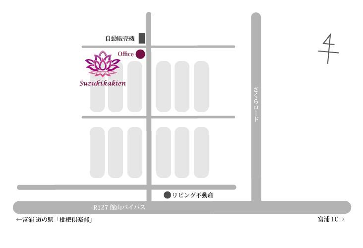 鈴木花卉園詳細マップ